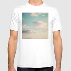 An endless affair with the upper atmosphere Mens Fitted Tee SMALL White