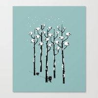A Sheep in Tree Clothing Canvas Print