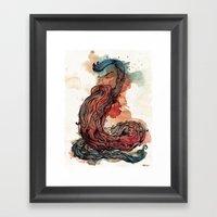 Bearded Serpent Framed Art Print