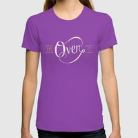 I'm Over It Womens Fitted Tee Ultraviolet SMALL