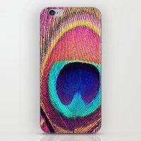 Pink Peacock iPhone & iPod Skin