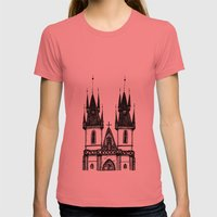 Tyn Church - Prague Womens Fitted Tee Pomegranate SMALL