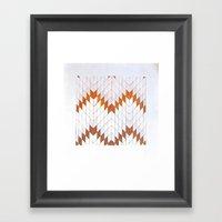 Flechas De Metal Framed Art Print