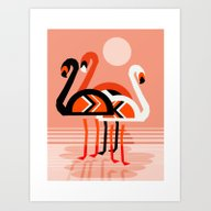 Posse - Flamingo Throwba… Art Print