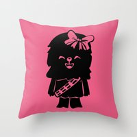 Baby Girl Wookie In Pink… Throw Pillow