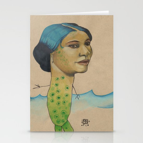 LONELY MERMAID Stationery Card