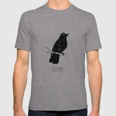 BLVCKBIRD - Blvckbird Mens Fitted Tee Tri-Grey SMALL
