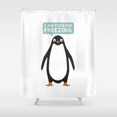 Talking Penguin Shower Curtain