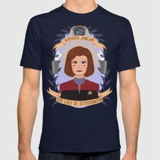 Kathryn Janeway Mens Fitted Tee Navy SMALL