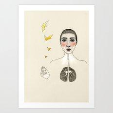 kara akciğer Art Print