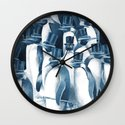 A Gathering of Gentlemen (square format) Wall Clock