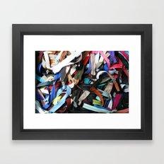Zippers Framed Art Print
