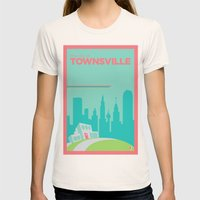 Welcome To Townsville Womens Fitted Tee Natural SMALL