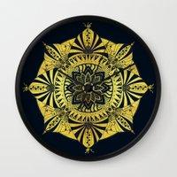 Golden Geometry Wall Clock