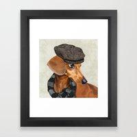 Elegant Mr. Dachshund Framed Art Print