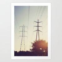 Power Lines Art Print