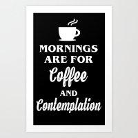 Mornings Art Print