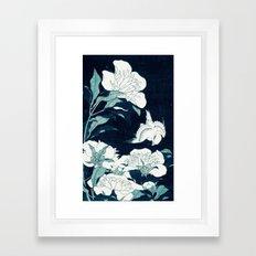 JAPANESE FLOWERS Framed Art Print