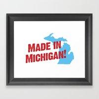 Made in Michigan Framed Art Print