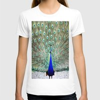 peacock T-shirts featuring Peacock by WhimsyRomance&Fun