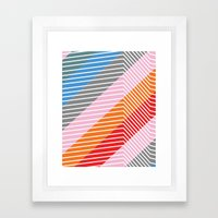 Diagonals Framed Art Print