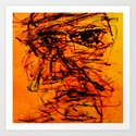 Depression in Charcoal Art Print
