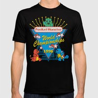 World Championship Mens Fitted Tee Black SMALL