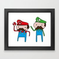 Mario Bros. Framed Art Print
