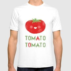 Tomato-Tomato Mens Fitted Tee SMALL White
