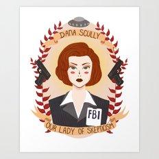 Dana Scully Art Print