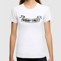 Nobody Cares Womens Fitted Tee Ash Grey SMALL
