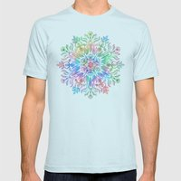Nature Mandala in Rainbow Hues Mens Fitted Tee Light Blue SMALL