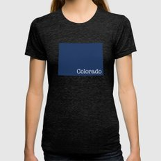 Colorado State in 2020 Navy blue Womens Fitted Tee Tri-Black SMALL