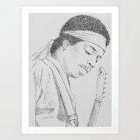 Hendrix print Art Print