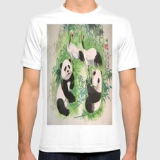 bamboo orchestra SMALL White Mens Fitted Tee