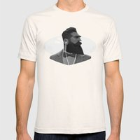 Manly Man Mens Fitted Tee Natural SMALL