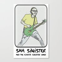 Badger - Plastic Sinister Band: Tooned Out Edition Canvas Print