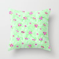 Throw Pillow featuring Floral Pattern 11 by Aloke Design