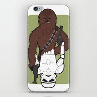 Chewbacca and Stormtrooper iPhone & iPod Skin