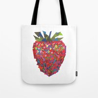 Strawberry (Fraise) Tote Bag