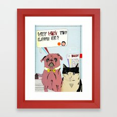 Why Won't You Love Me Framed Art Print