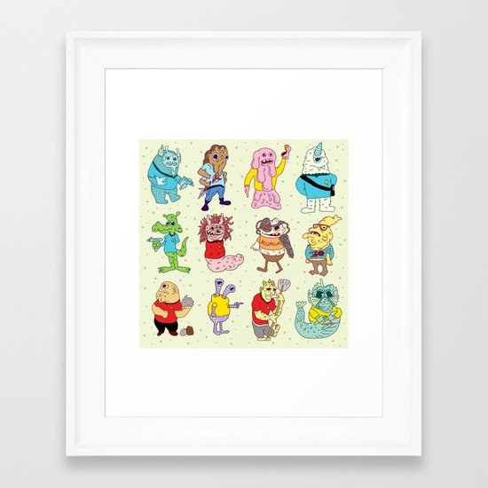 Monster Trek Rally Framed Art Print