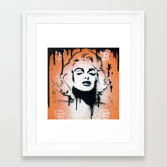 SF Giants x Marilyn Monroe by Adam Valentino  Framed Art Print