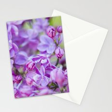 Lilac, Nature Photography, Blossom Print, Purple Wall Art, Spring Blossom Photo, Feminine Stationery Cards