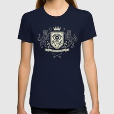 The Secret Society Womens Fitted Tee Navy SMALL