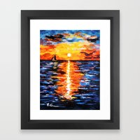 Title: Sunset Over The Sea Framed Art Print