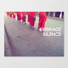 Embrace Silence Canvas Print