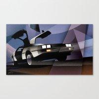 Delorean - Cityscape Canvas Print