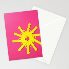Gun Flower on Pink Stationery Cards