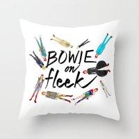 BOWIE on Fleek Throw Pillow
